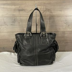 Coach Soho Black Leather Tote/Carryall
